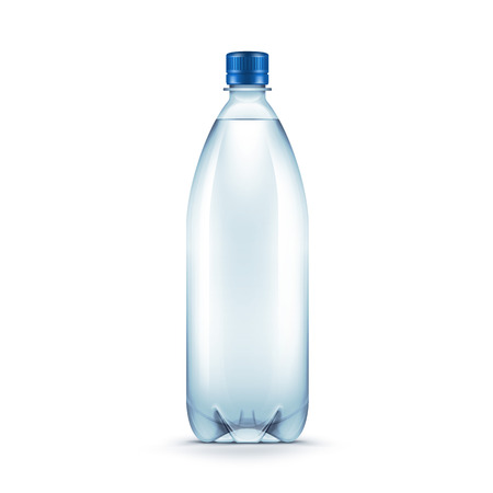 Vector Blank Plastic Blue Water Bottle Иллюстрация