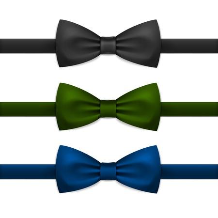 Vector Bow Tie Bowtie Set geïsoleerd op wit