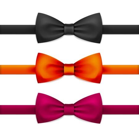 Vector Bow Tie Bowtie Set Isolated on White Stock Illustratie