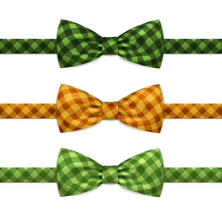 ties: Vector Bow Tie Bowtie Set Isolated on White Illustration
