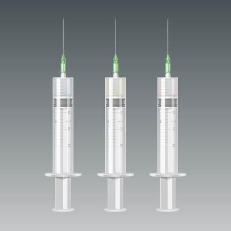 ampoule: Vector Plastic Medical Syringe Isolated Illustration