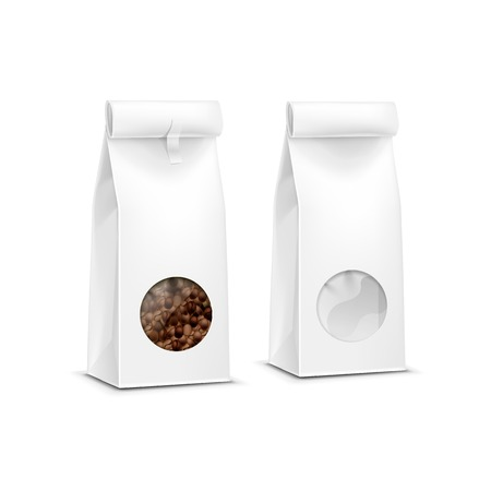 food packaging: Vector Coffee Packaging Package Bag Isolated Illustration