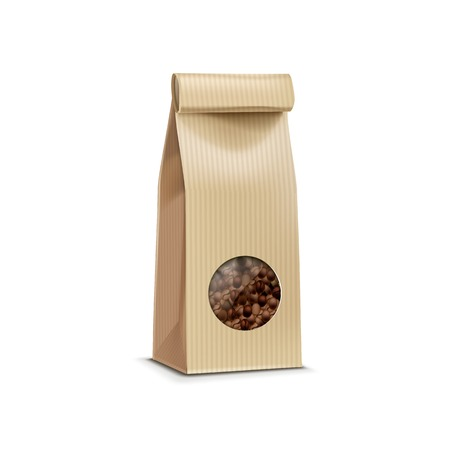 Vector Coffee Packaging Package Bag Isolated Ilustrace