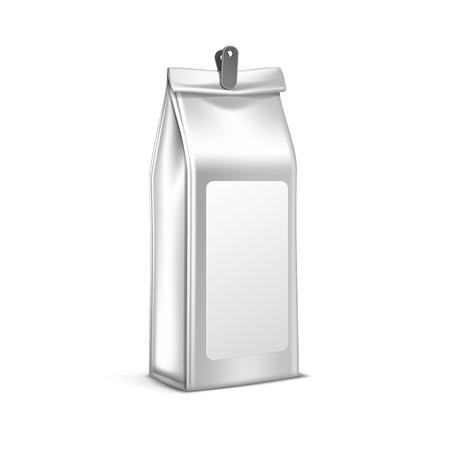 pack: Vector Coffee Tea Packaging Package Bag Isolated