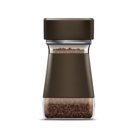 分離ベクトル コーヒー ガラス瓶包装パッケージ