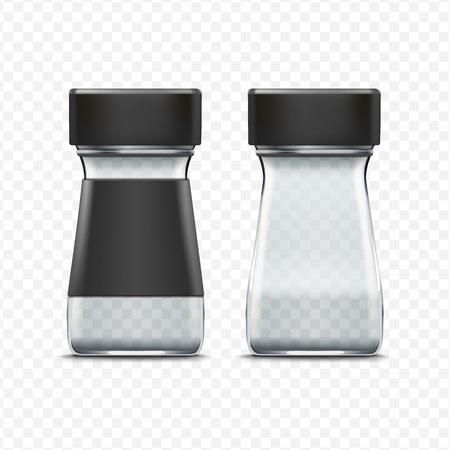 cereal: Vector el tarro de cristal vacío del envase aislado