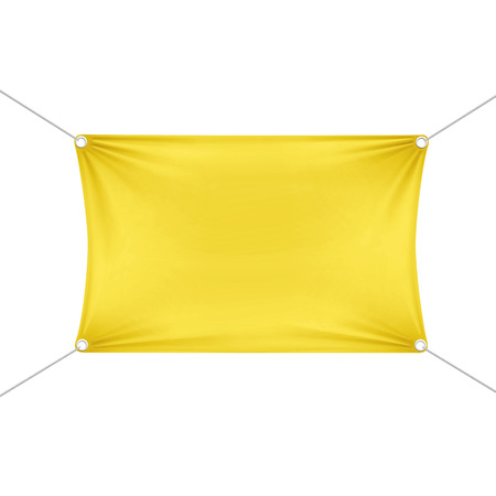 stretched: Yellow Blank Empty Horizontal Rectangular Banner