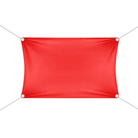 fabric label: Red Blank Empty Horizontal Rectangular Banner Illustration