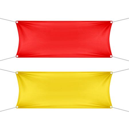 bienvenidos: Banners horizontales vacías en blanco rojas y amarillas Vectores