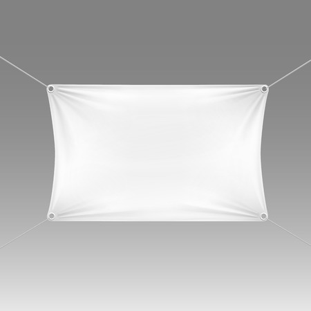 corner flag: White Blank Empty Horizontal Rectangular Banner