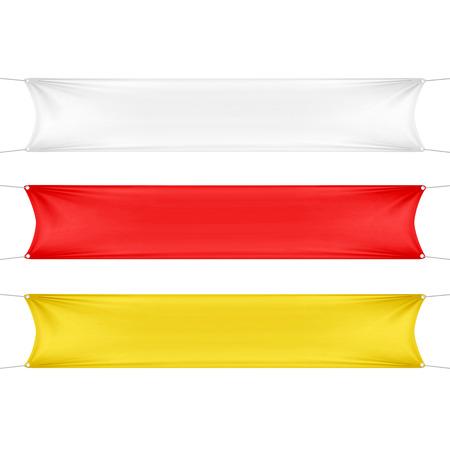 pancarta: Blanco, rojo y Banners vac�o en blanco amarillas