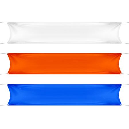 Wit, rood en blauw lege lege Banners