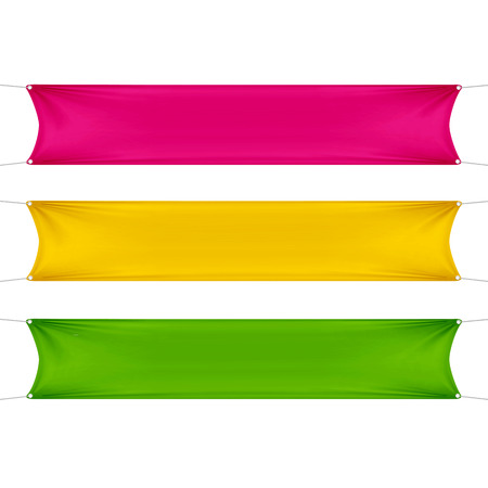 alert ribbon: Red, Yellow and Green Blank Empty Banners