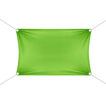 Green Blank Empty Horizontal Rectangular Banner Illustration