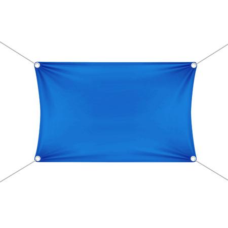 Blue Blank Empty Horizontal Rectangular Banner
