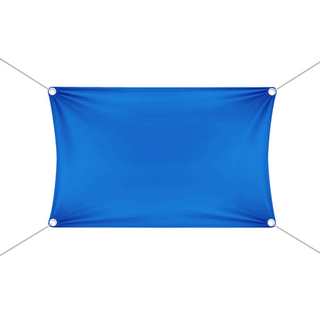 Blue Blank Empty Horizontal Rectangular Banner