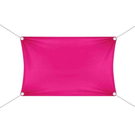 stretched: Pink Blank Empty Horizontal Rectangular Banner