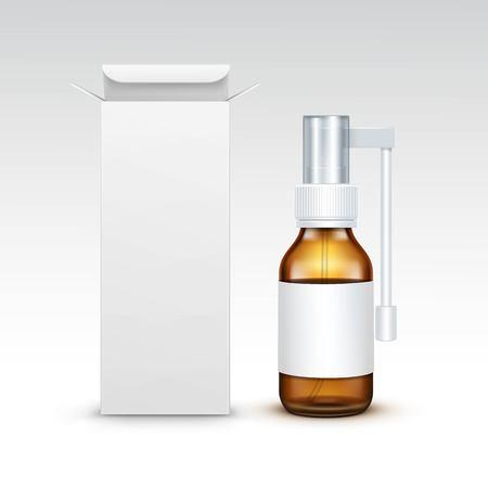 the name of the drug: Vector Blank Medicine Medical Glass Spray Bottle