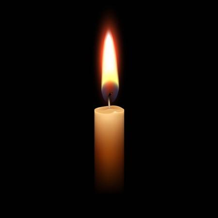Świeczka płomień światła samodzielnie tła