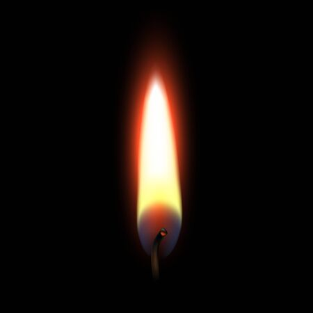 flames: Fire Flame Isolated on Black Background Illustration