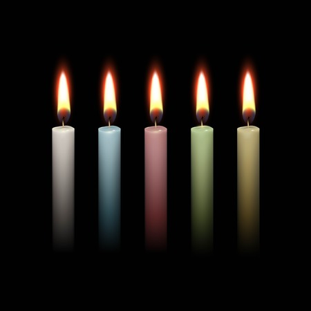 candles in dark: Candles Flame Fire Light Isolated Background