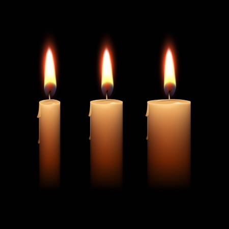paraffin: Candles Flame Fire Light Isolated Background
