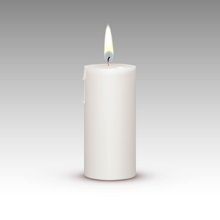 Candle Flame Fire Light Isolated on Background Ilustracja