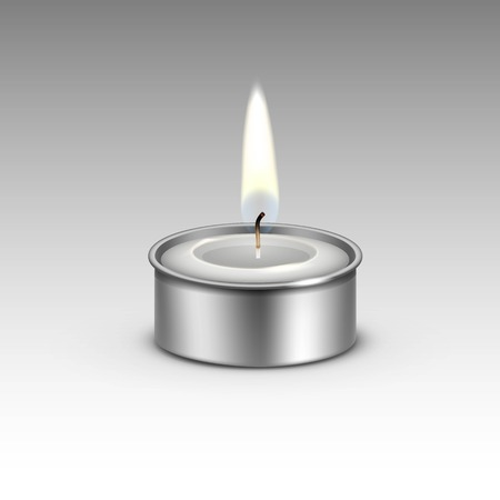 paraffin: Candle in the Metal Candlestick Flame Fire Light