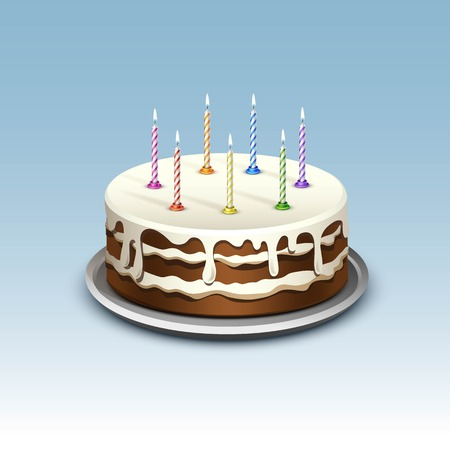 Birthday Cake with Candles Numerals
