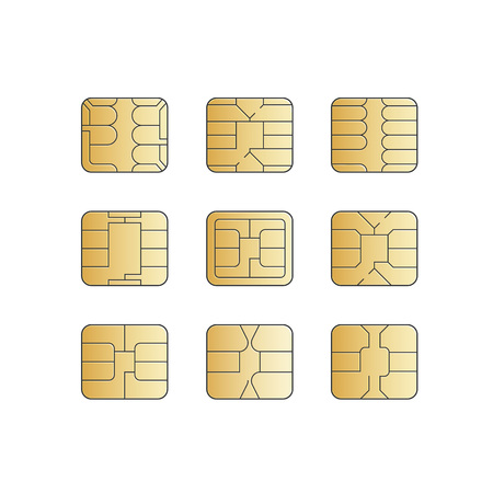 chip set: Vector Mobile Cellular Phone Sim Card Chip Set