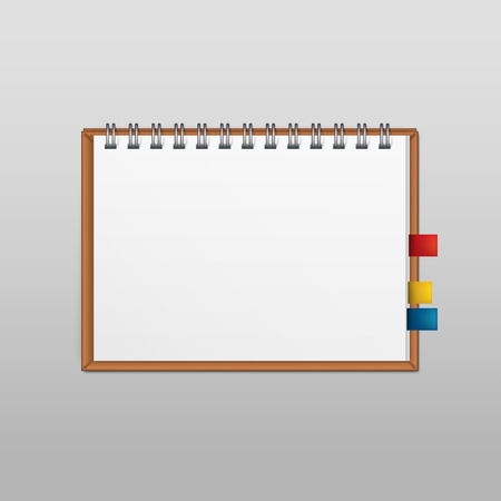 Vector White Blank Paper Note Notebook Page