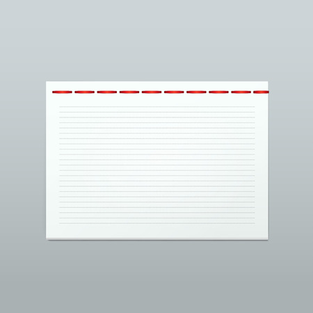 blank note: Vector White Blank Paper Note Notebook Page