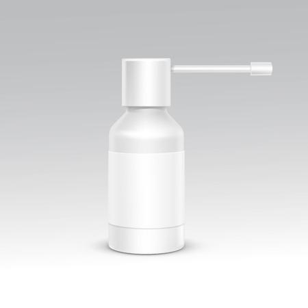 noses: Spray Bottle White Plastic Packaging Container Set Illustration