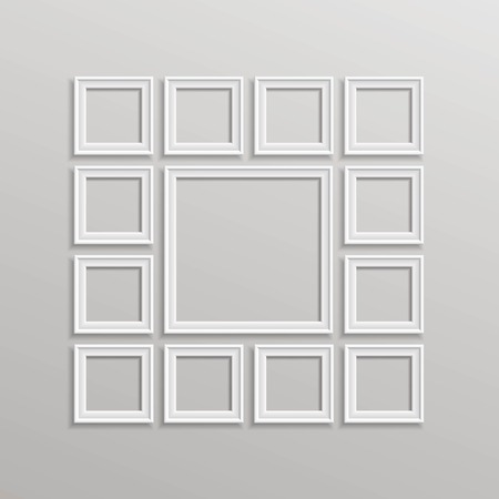 vintage paper: Vector Blank Picture Frame Template Composition