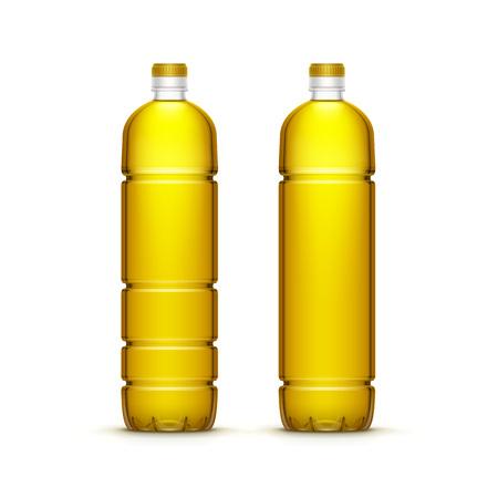oil: Vector Plastic Sunflower Olive Oil Blank Bottle