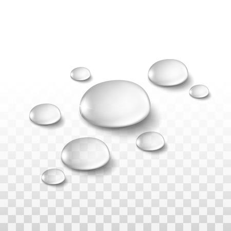 Vodní Kapky sada na průhledné pozadí Ilustrace