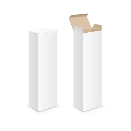 White Blank Package Pack Tandpasta Box Stock Illustratie
