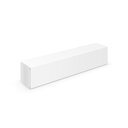 medical box: White Blank Packaging Package Pack Toothpaste Box
