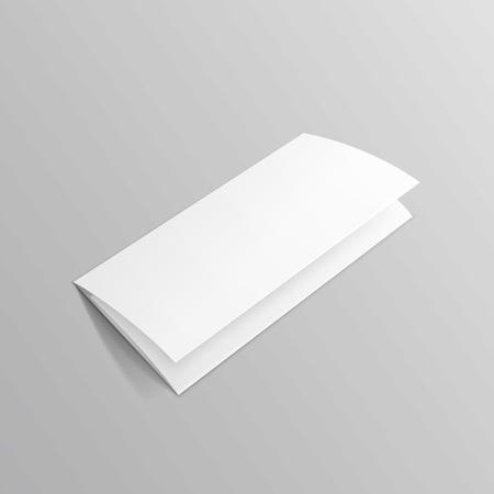 dl: White Trifold Brochure Leaflet Zigzag Folded Flyer Illustration