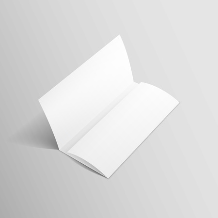 sheet of paper: White Trifold Brochure Leaflet Zigzag Folded Flyer Illustration