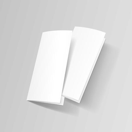 White Trifold Brochure Leaflet Zigzag Folded Flyer Illustration