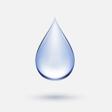 Vector Blue Water Drop pictogram geïsoleerd op achtergrond Stockfoto - 42153535