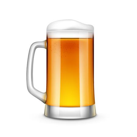 Bierglas vector illustratie geïsoleerd op een witte achtergrond