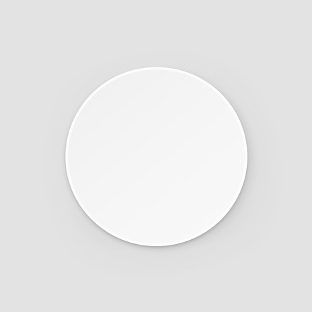 White Round Blank Beer Coaster Vector Isolated Illustration