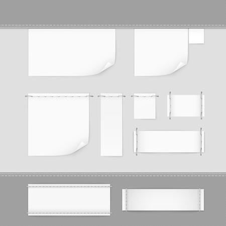 coser: Etiqueta de la etiqueta de la puntada Set negro Vector Aislado