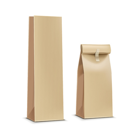 paper craft: Té, café bolsa de paquete de paquete de papel de embalaje