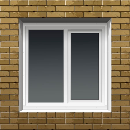 cover up: Window with Rolling Shutters on a Brick Wall