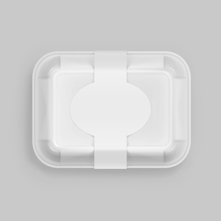 chinese take away container: White Fast Food Box Container Packaging Package Packing Pack Isolated on Background
