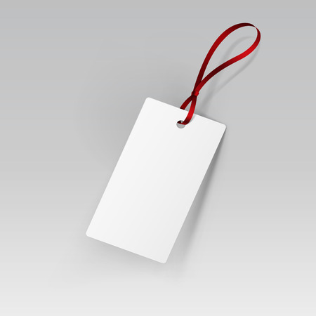 sew tags: Illustration of Label Tag Ribbon White Isolated