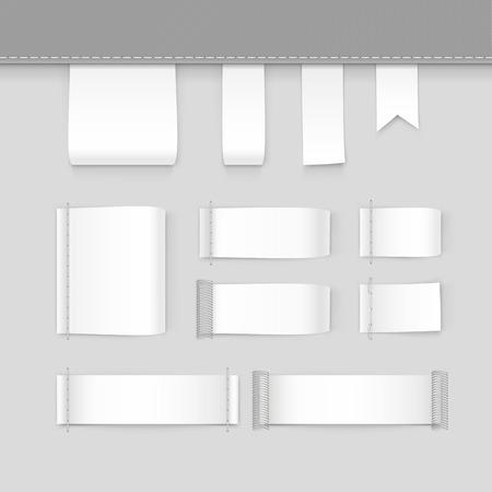 Illustration von Label-Tag-Stich Set weiß Vektor Isoliert Standard-Bild - 55698513